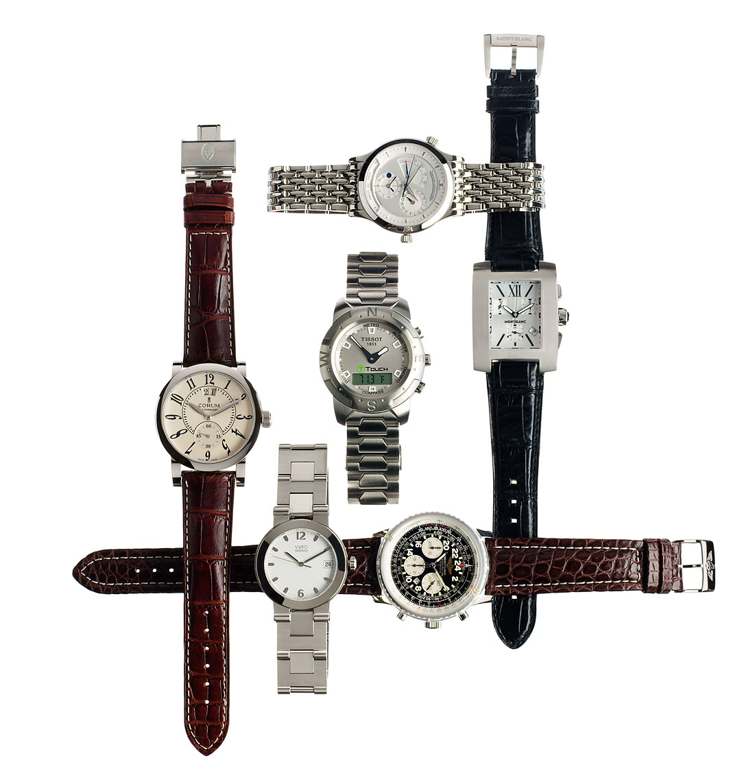Jewelry Still Life, Luxury Designer Watches