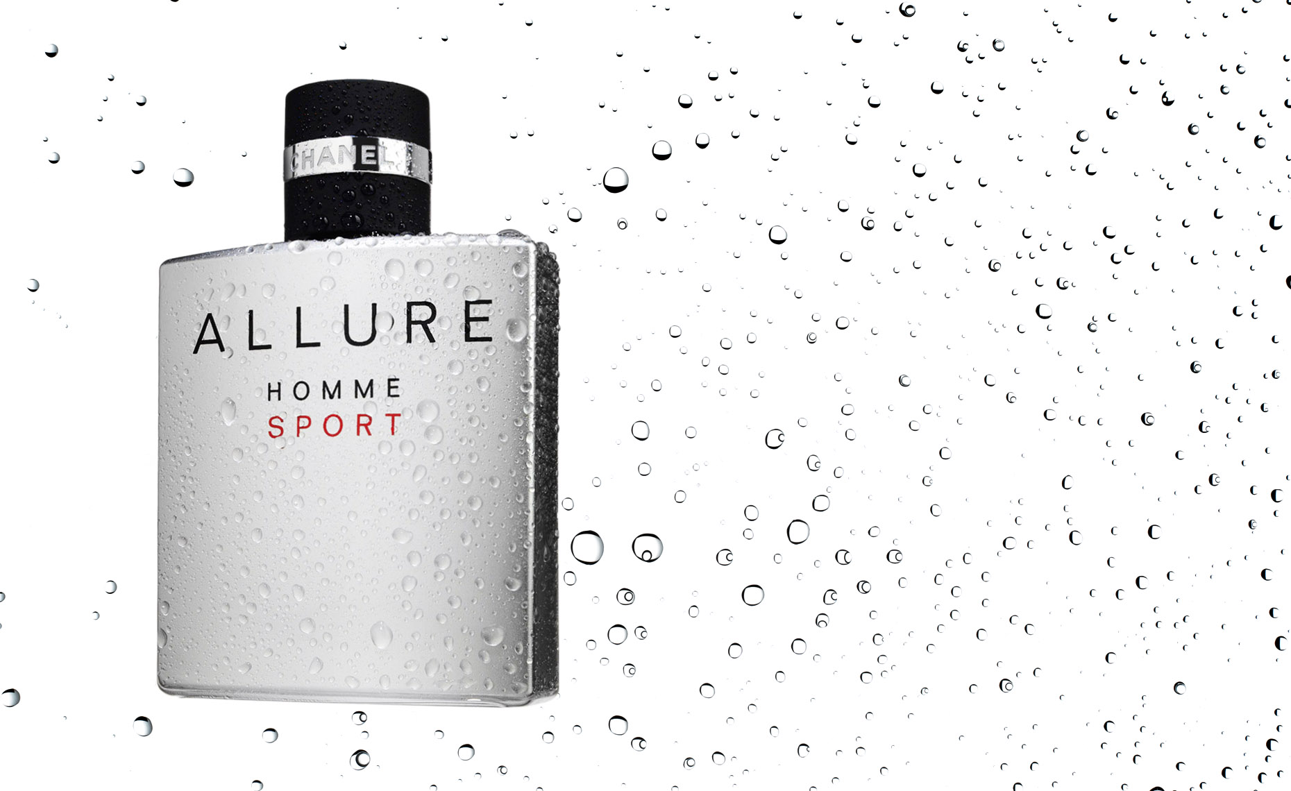 Cosmetics, Allure Fragrance by Chanel with Water Drops - Mike Lorrig