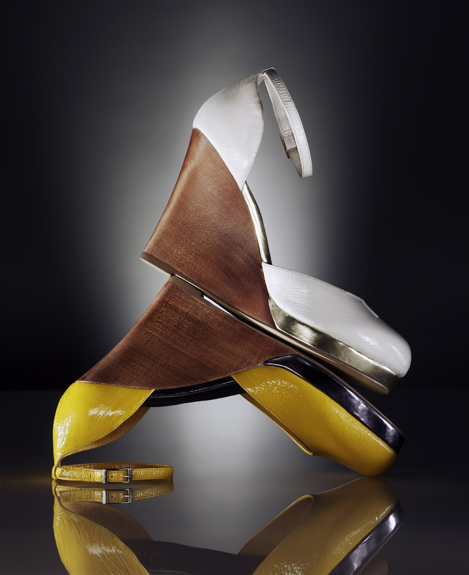 Accessories Still Life, Plateau Sandals by Charles David