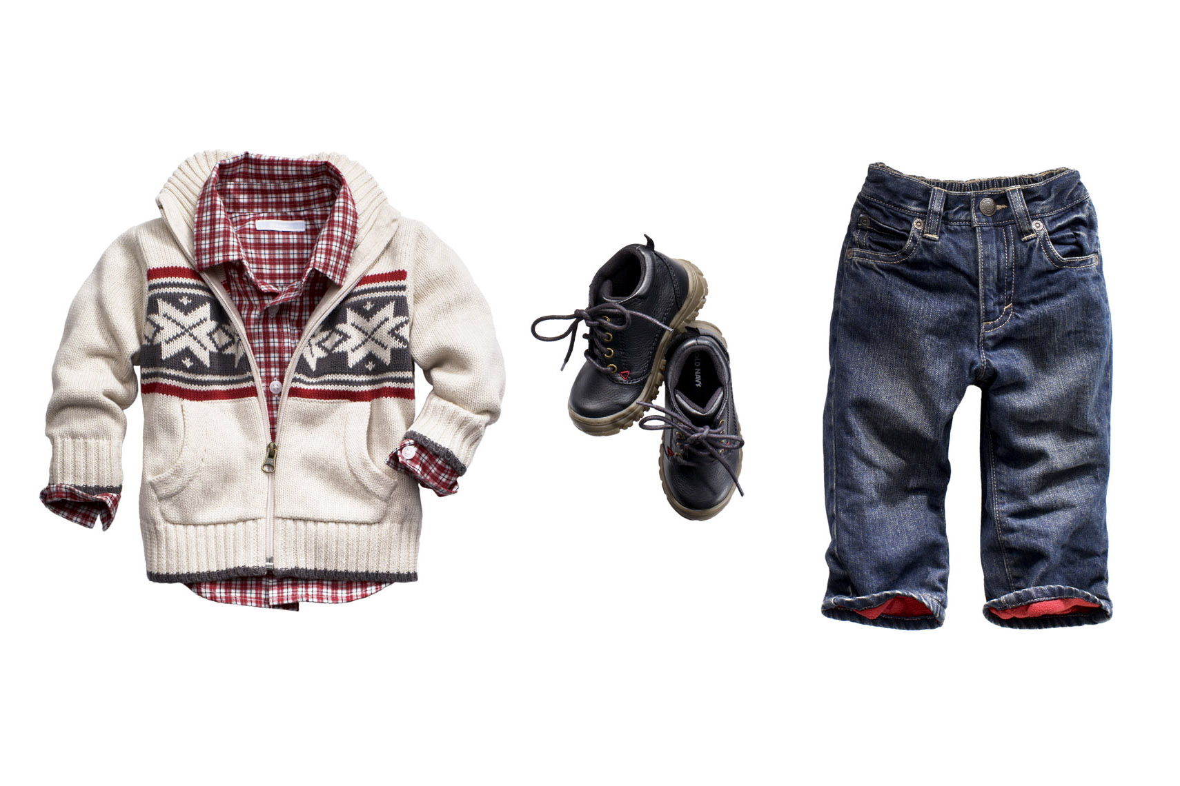 Apparel Still Life, Jeans and Sweater for Toddler