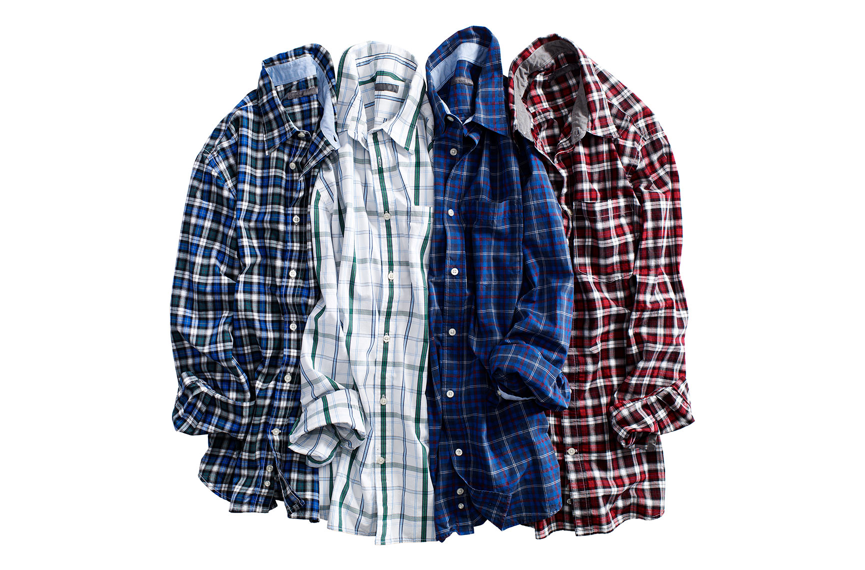 Apparel Still Life, Mens Casual Plaid Shirts