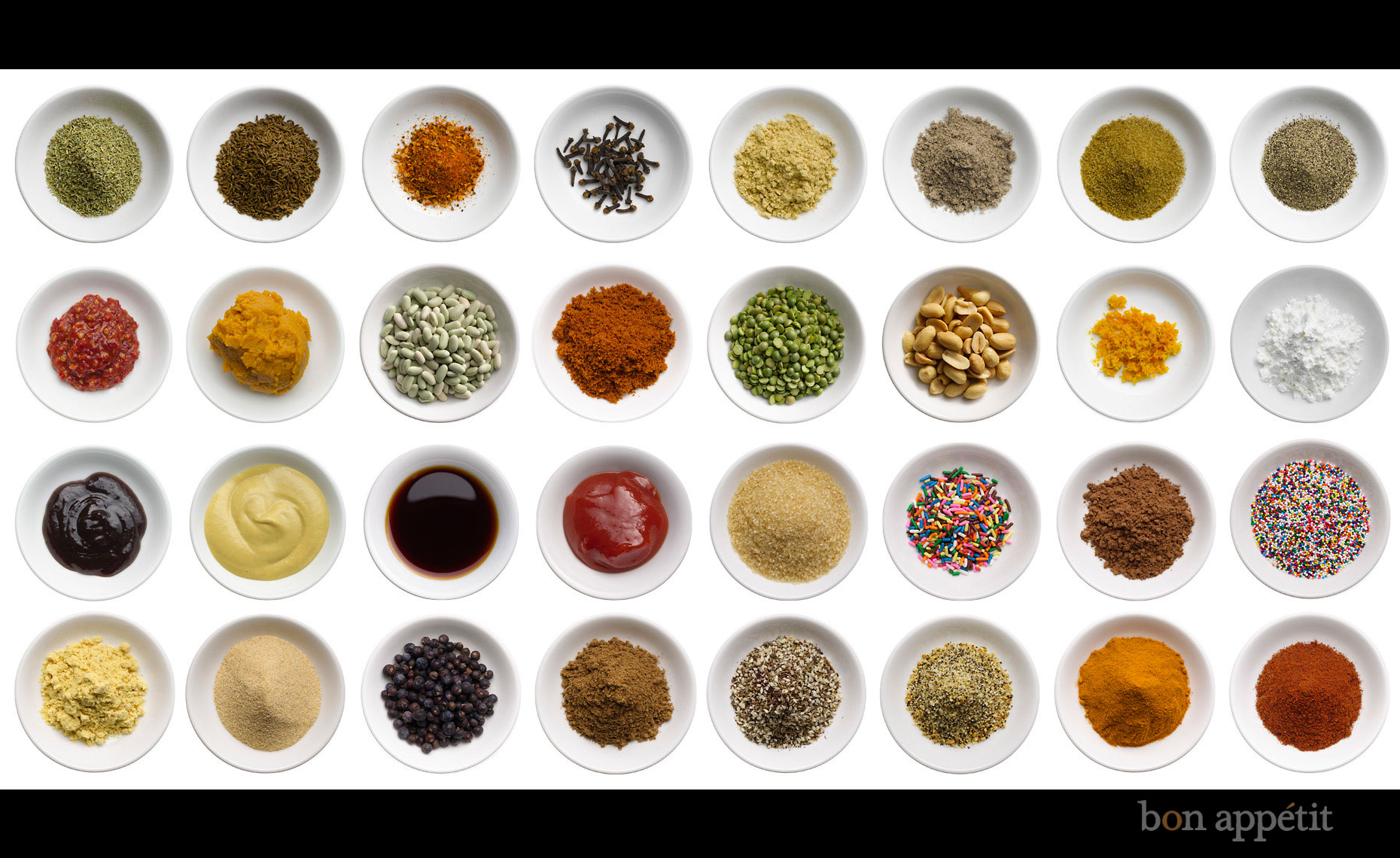 Food Still Life | Spice Collection in Dipping Bowls
