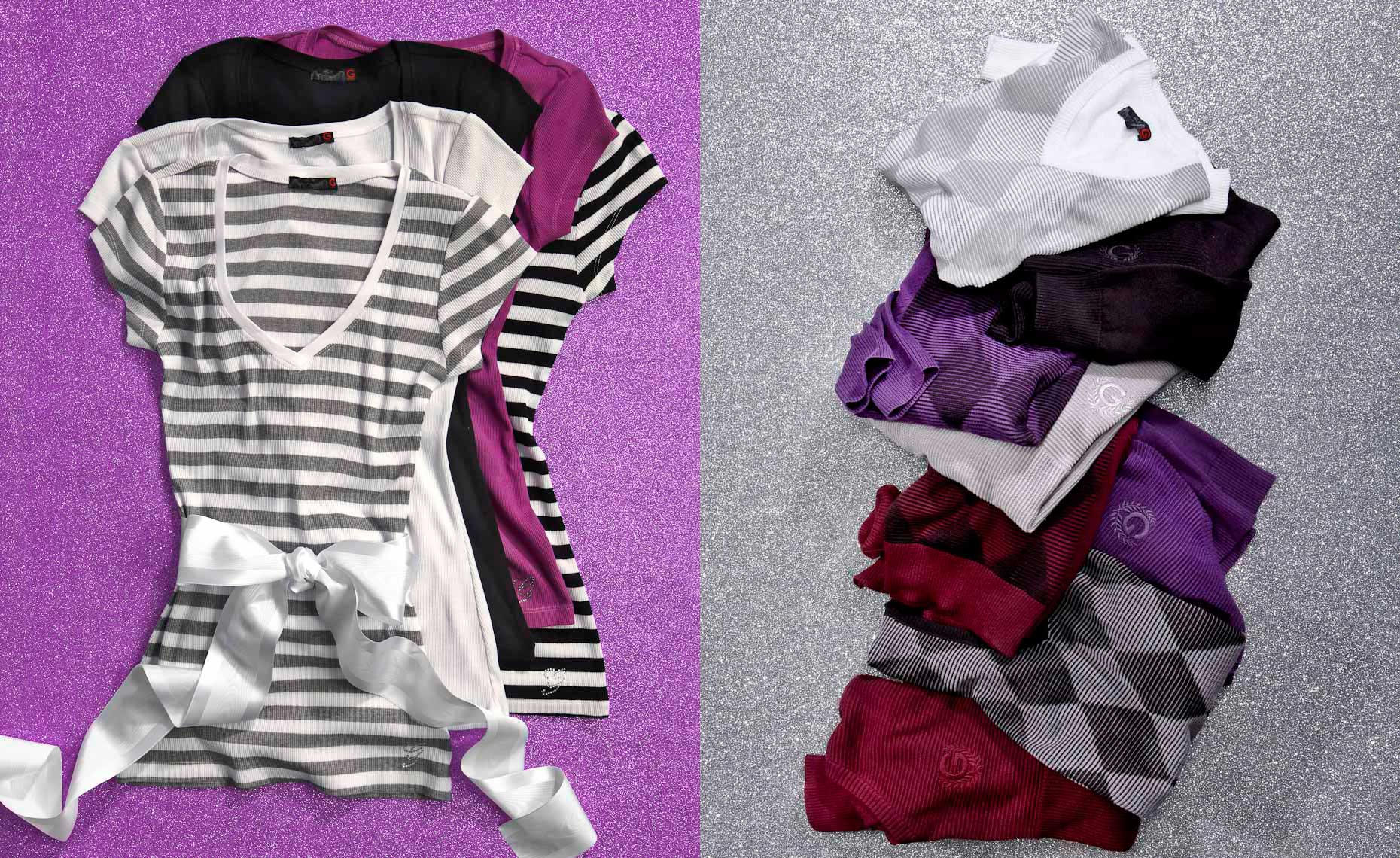 Apparel Still Life | Off-figure Laydown,  Shirts by Guess