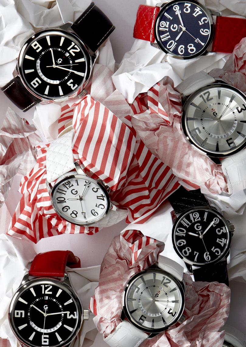 Accessories Still Life, Watches by Guess