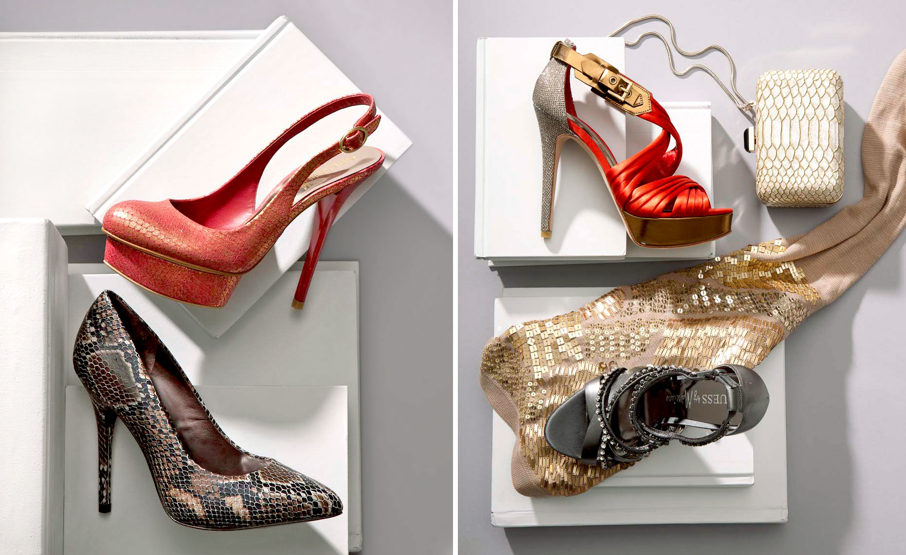 Accessories Still Life, Pumps by Guess