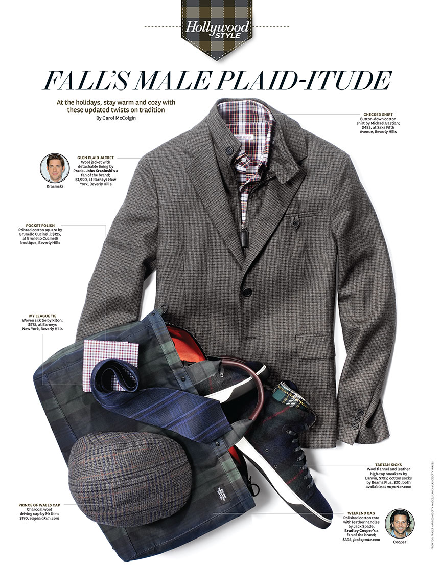 Apparel Still Life, Mens Plaid Jacket and Accessories