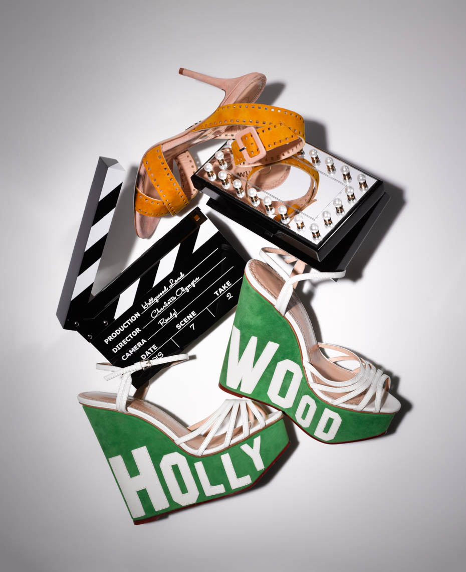 Accessories Still Life, Hollywood Clutches and Sandals