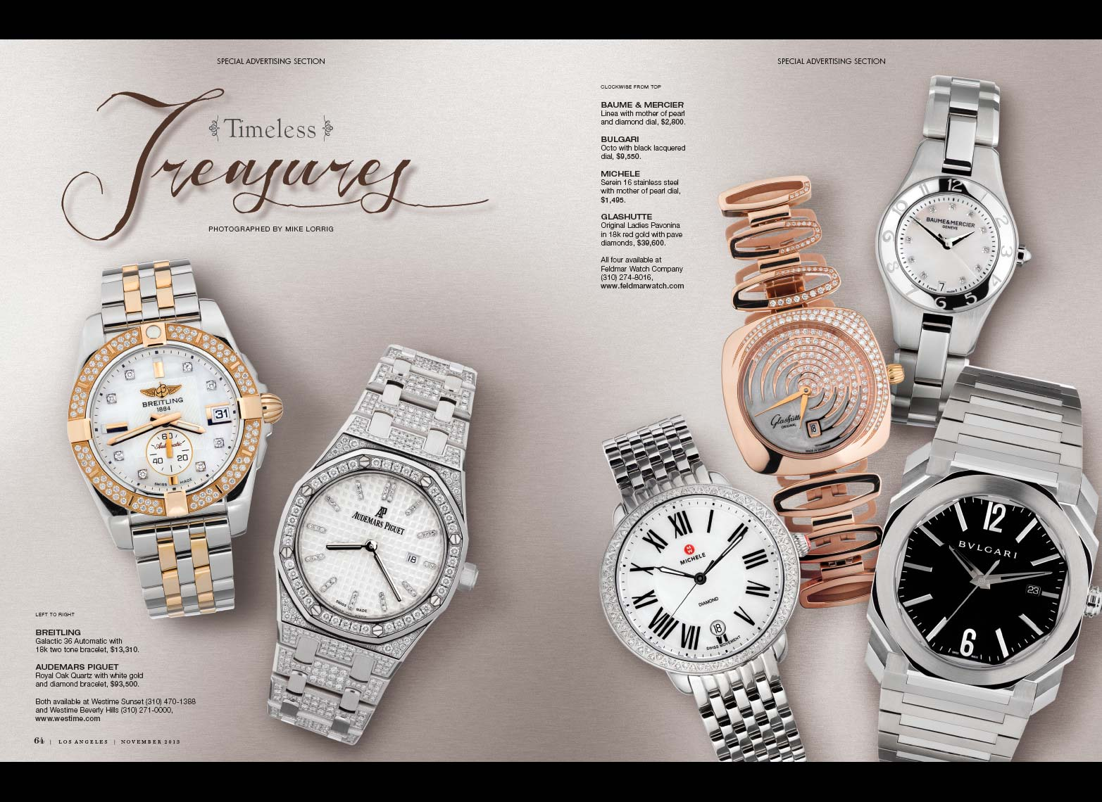 Jewelry Still Life | Designer Watches