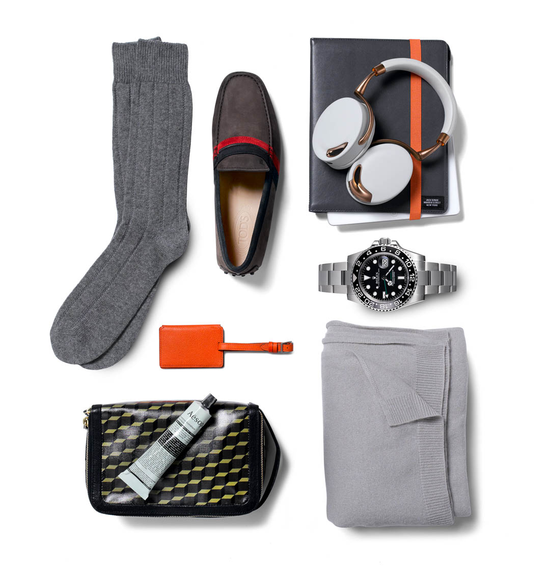 Accessories Still Life, Mens Travel Accessories