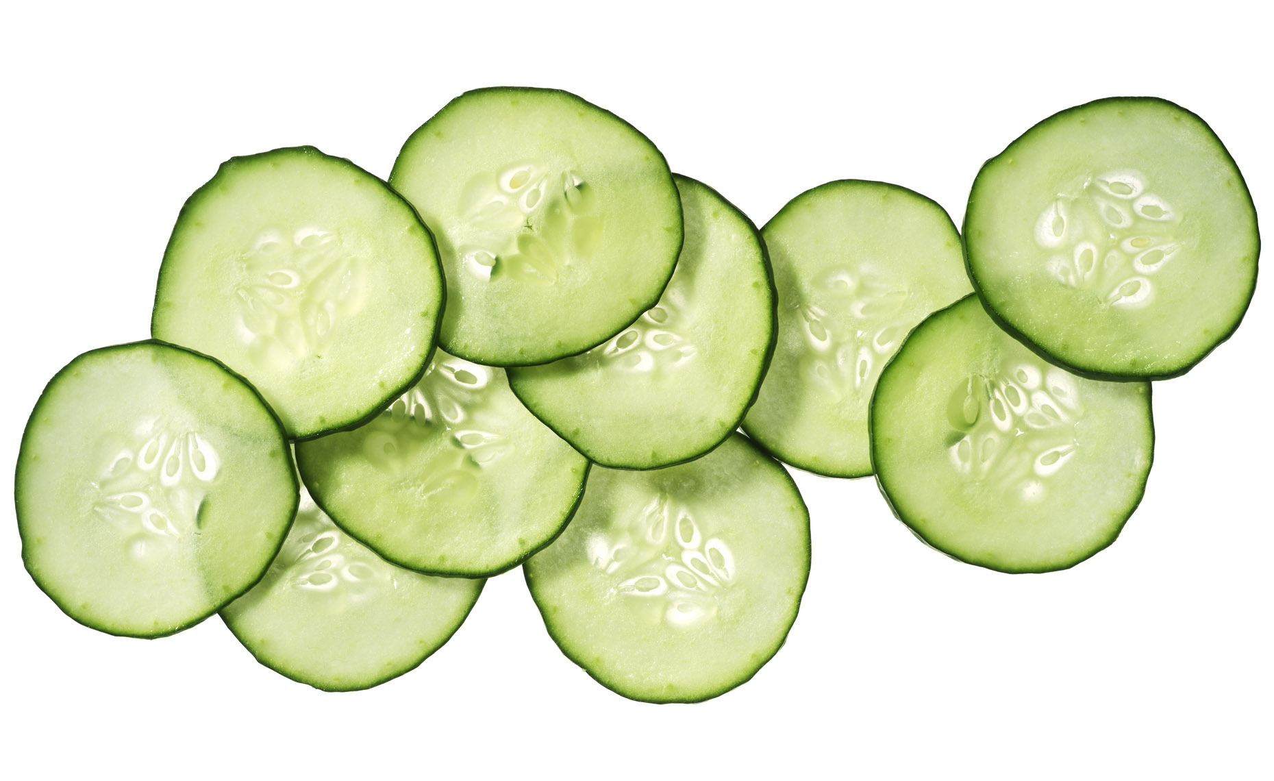 Food Still Life, Cucumber Slices - Gurken Scheiben