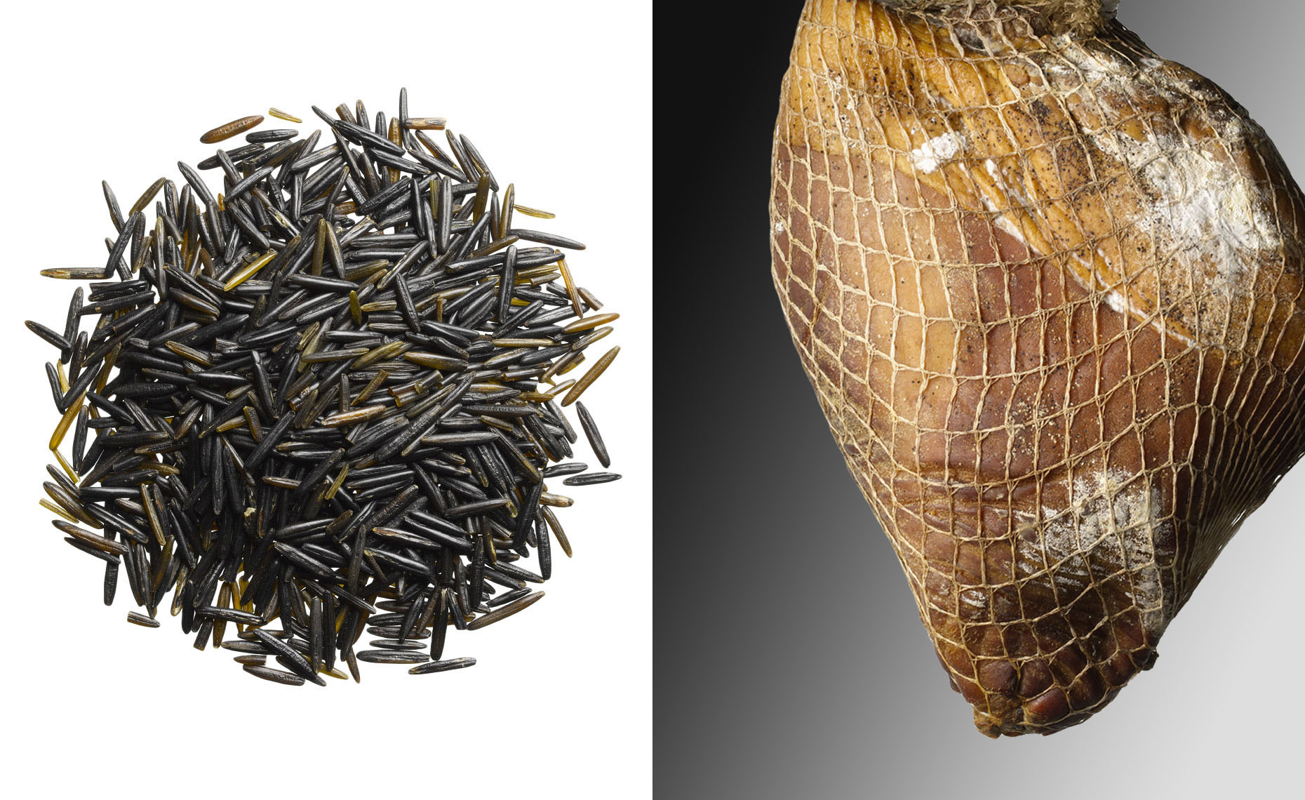 Food Still Life, Wild Rice And Smoked Ham