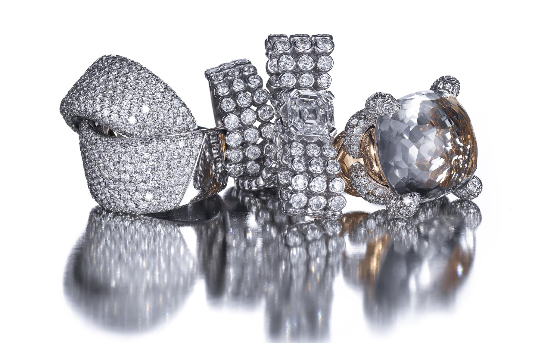 Jewelry Still Life | Diamond Rings