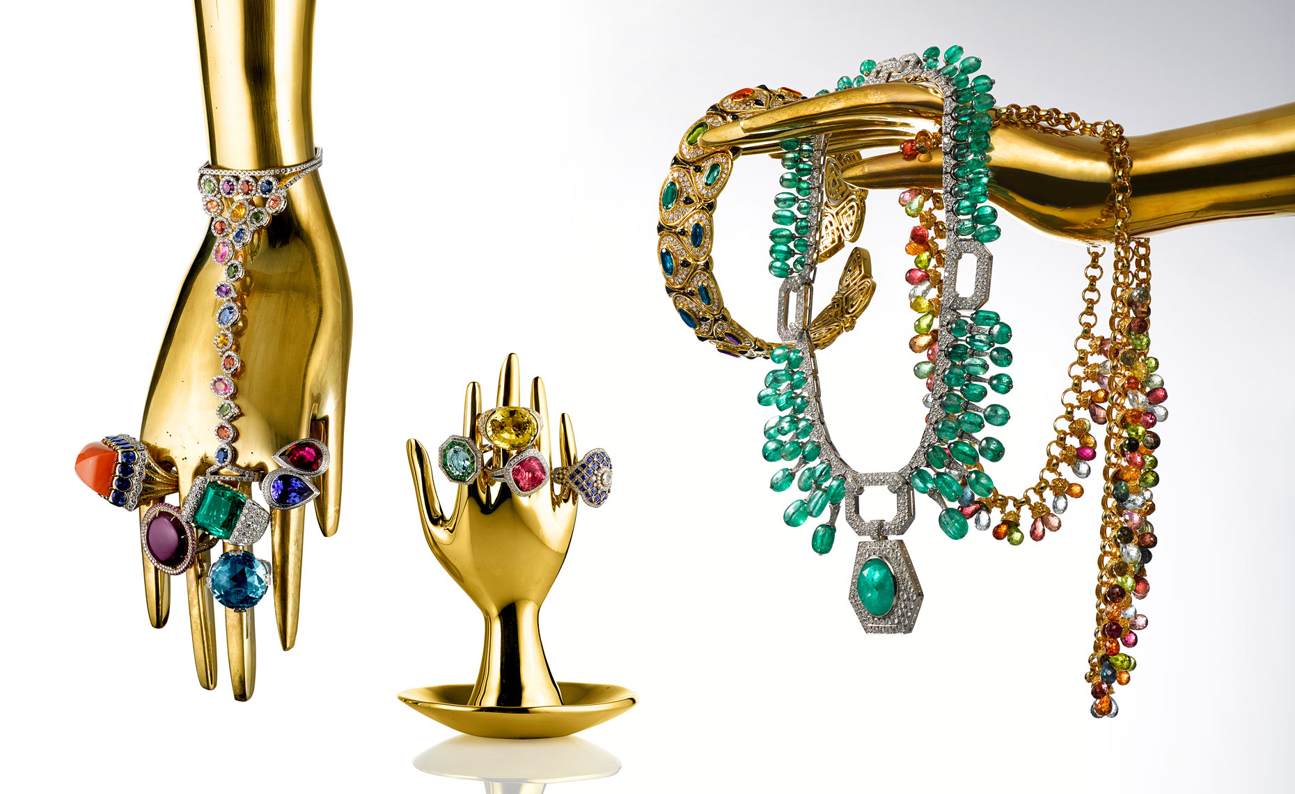 Jewelry Still Life | Diamond Rings and Gemstone Necklaces