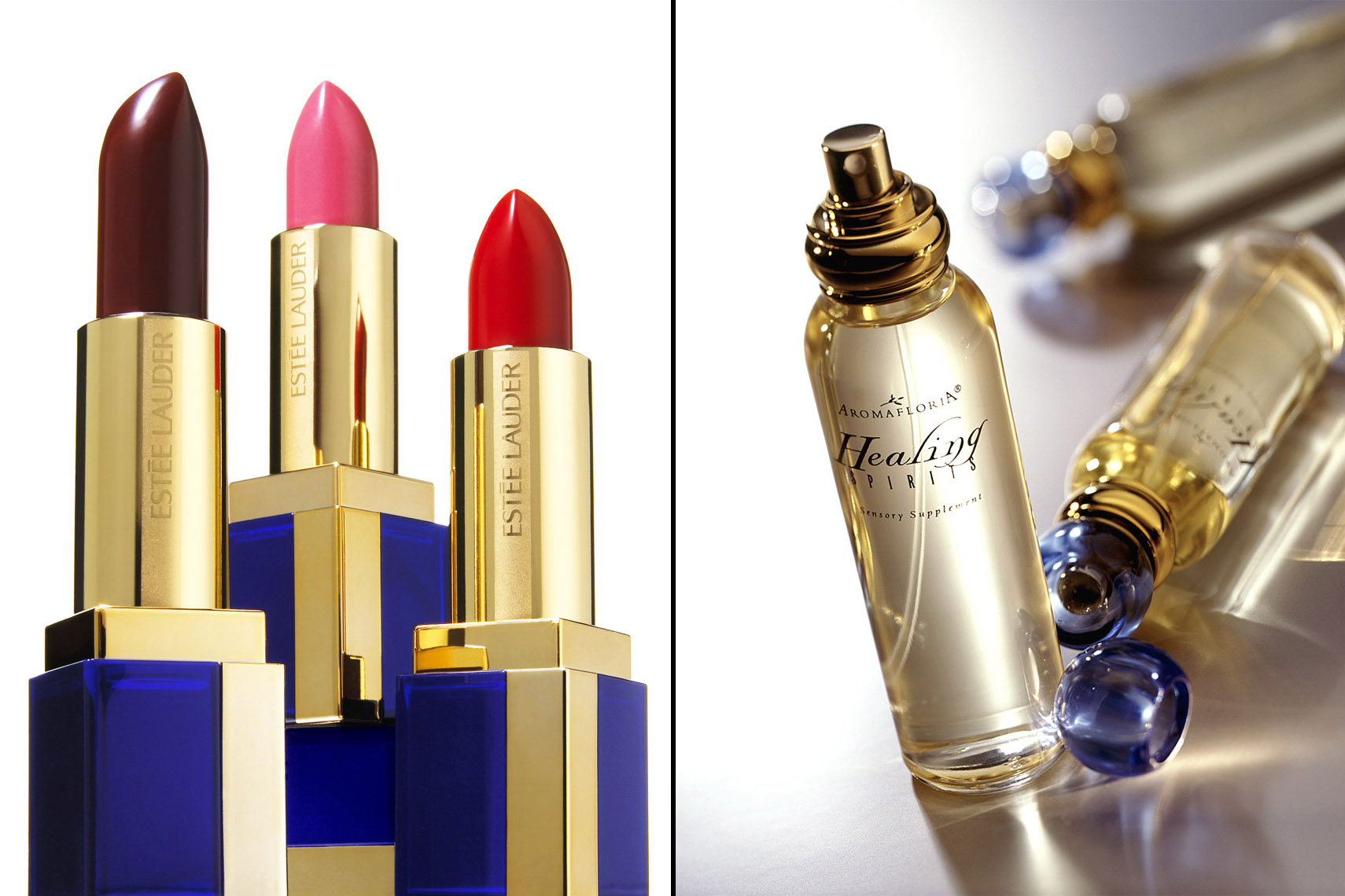 Cosmetics Still Life, Lipsticks by Estee Lauder