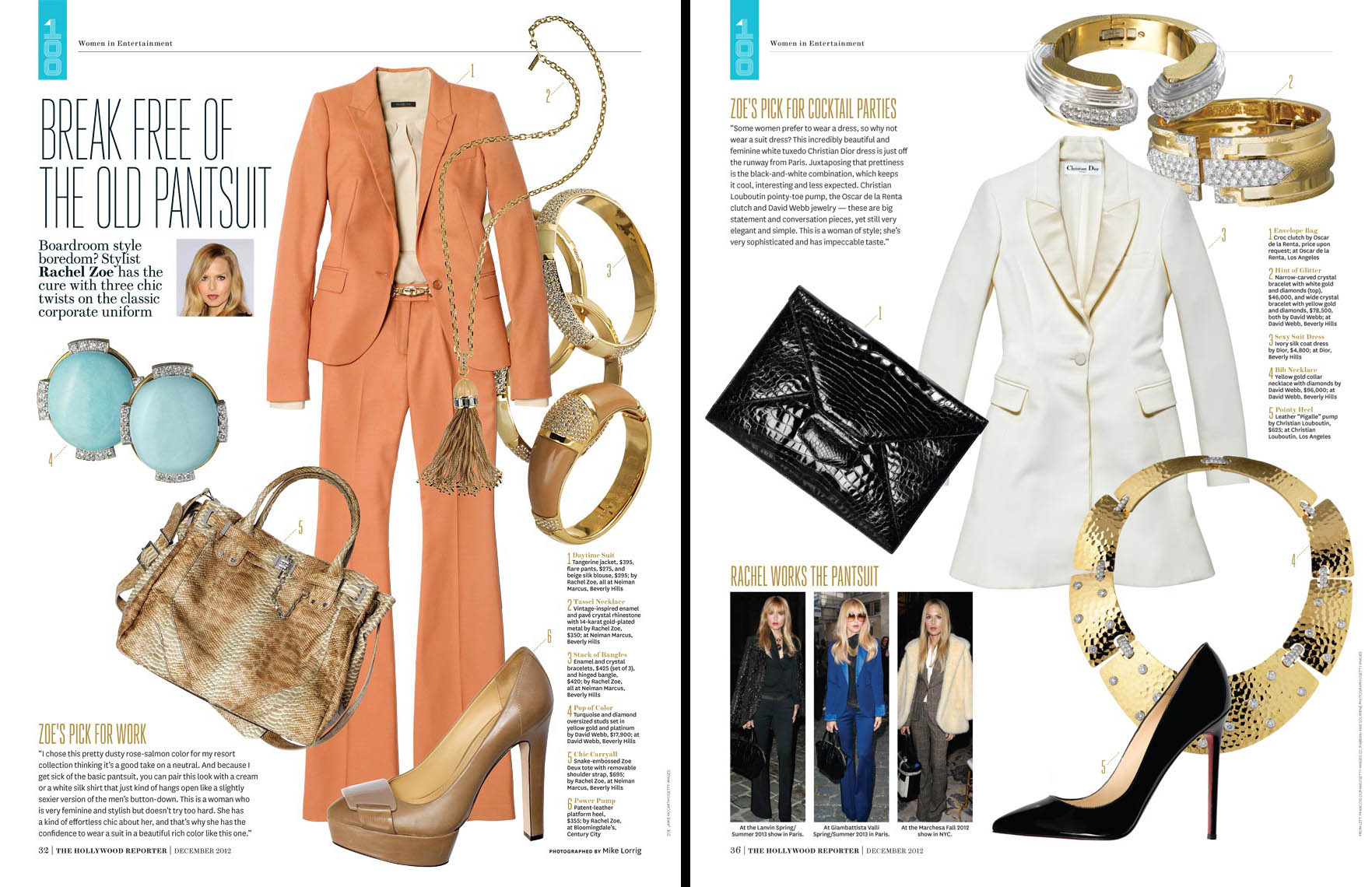 Apparel Still Life, Rachel Zoe Outfits and Accessories