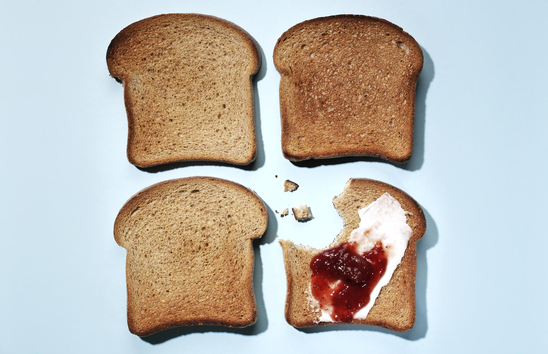 Food Still Life, Toast and Jam
