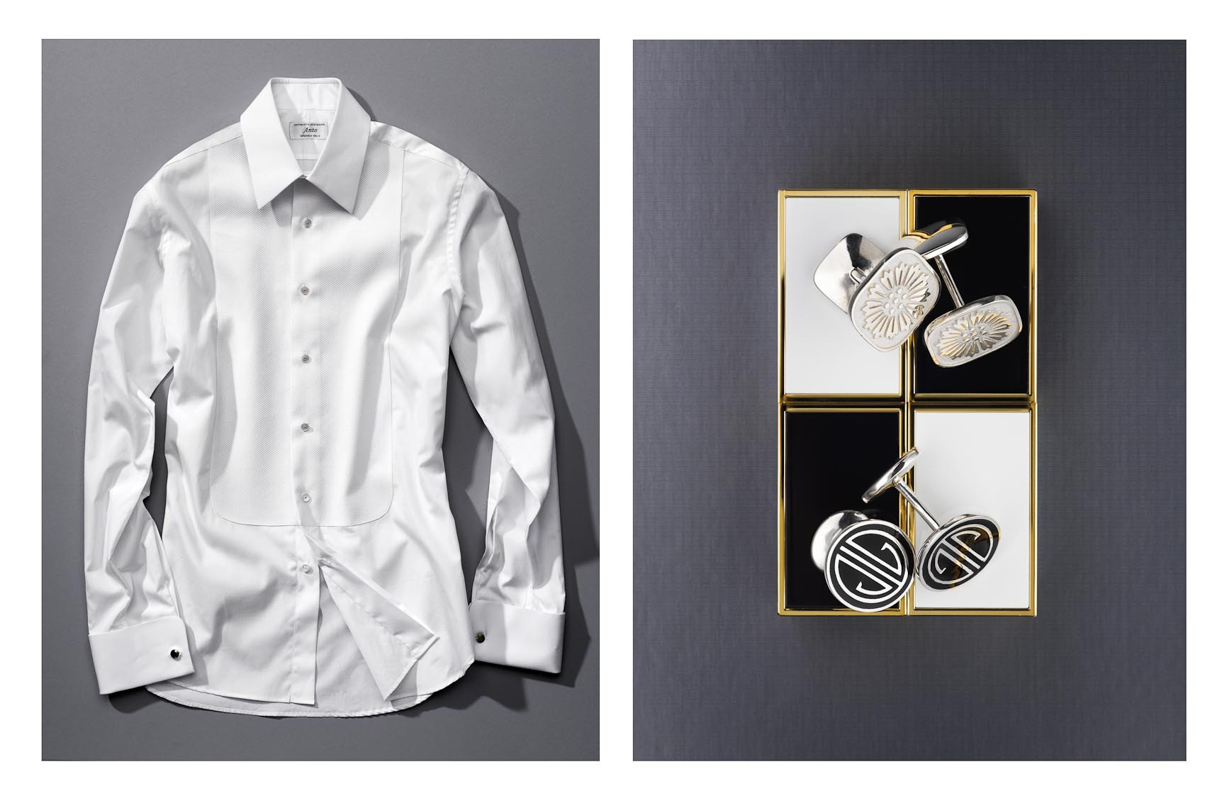 Apparel Still Life, Dress Shirt and Cufflinks Style Guide