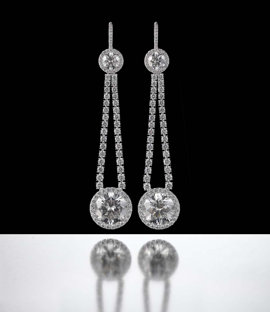 Jewelry Still Life, Diamond Earrings by Jacob