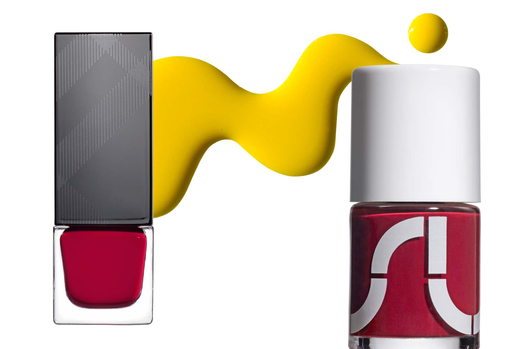 Cosmetics, Nailpolish Product Shot and Spill of Yellow Lacquer - Mike Lorrig