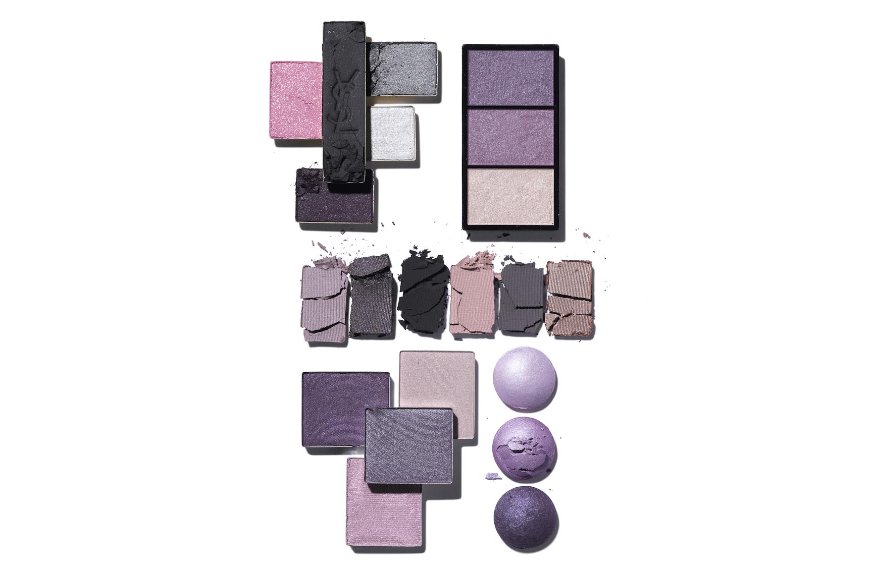 Cosmetics, Eyeshadow in Shades of Lilac, Loose and Crushed - Mike Lorrig