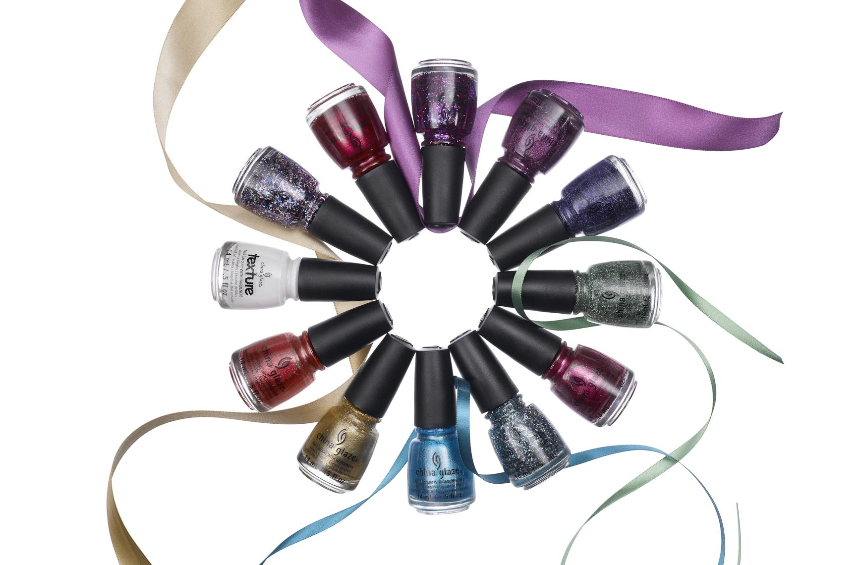 Cosmetics, Nail Polish Bottles and Ribbons - Mike Lorrig