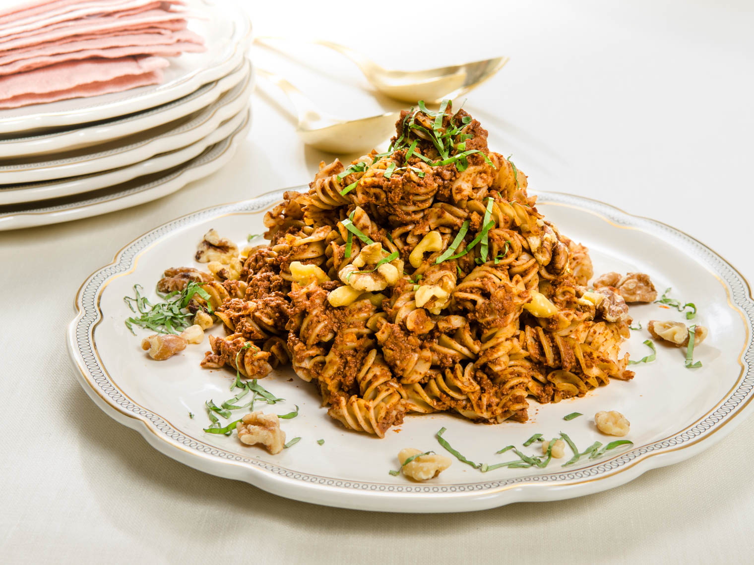 Pasta Dish with Walnuts and Marinara