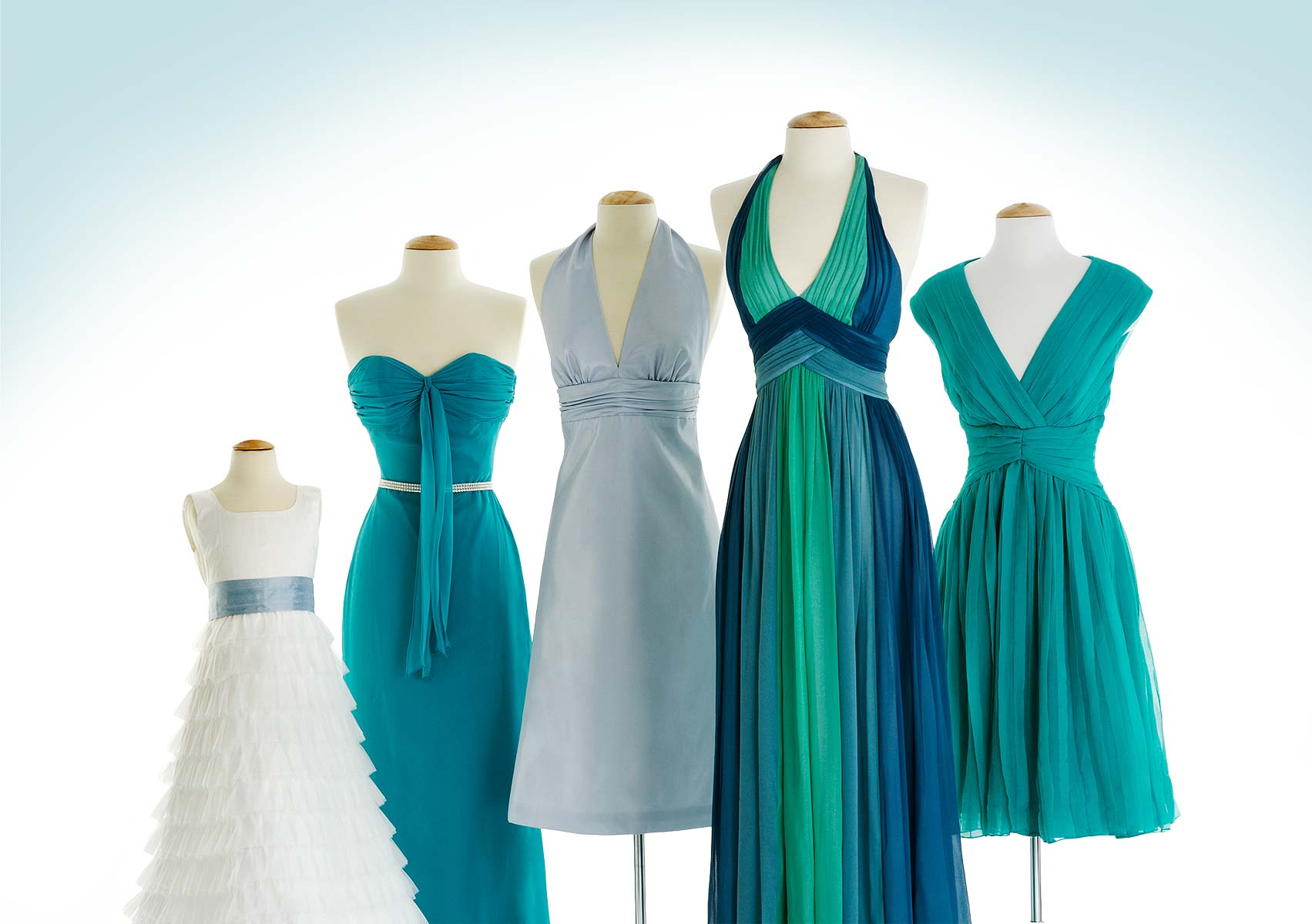 Apparel Still Life, Bridesmaid Dresses